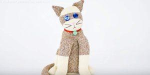 Woman Stuffs A Sock But She Doesn't Make A Sock Monkey…She Makes A Cuddly Sock Cat!