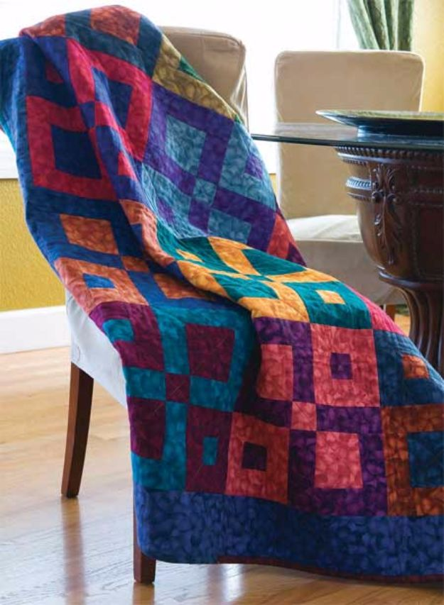 Best Quilts to Make This Weekend - Square Dancing Lap Quilt - Free Quilt Patterns and Quilting Tutorials - Quilting for Beginners and Sewing Ideas - DIY Baby Quilts, Printables, New and Easy Modern Quilts, Jelly Roll, Quilt Squares, Fat Quarters and Scrap Ideas #diy #quilting #sewing