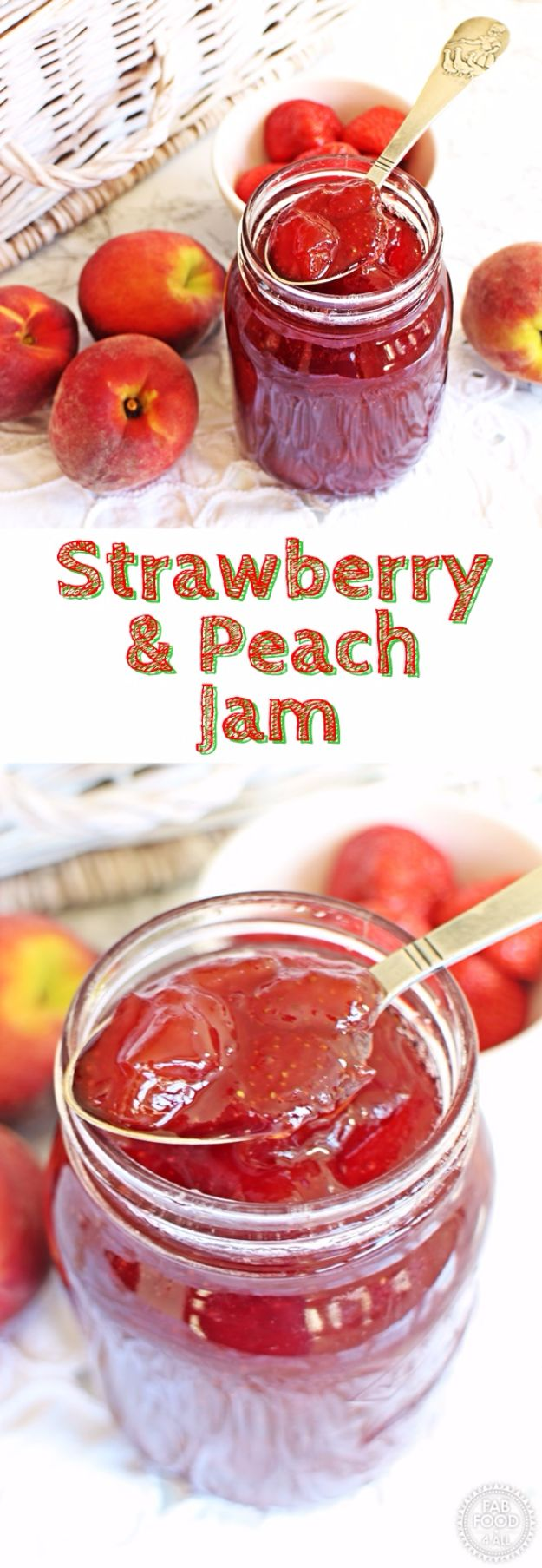 Best Jam and Jelly Recipes - Strawberry & Peach Jam - Homemade Recipe Ideas For Canning - Easy and Unique Jams and Jellies Made With Strawberry, Raspberry, Blackberry, Peach and Fruit - Healthy, Sugar Free, No Pectin, Small Batch, Savory and Freezer Recipes http://diyjoy.com/jam-jelly-recipes