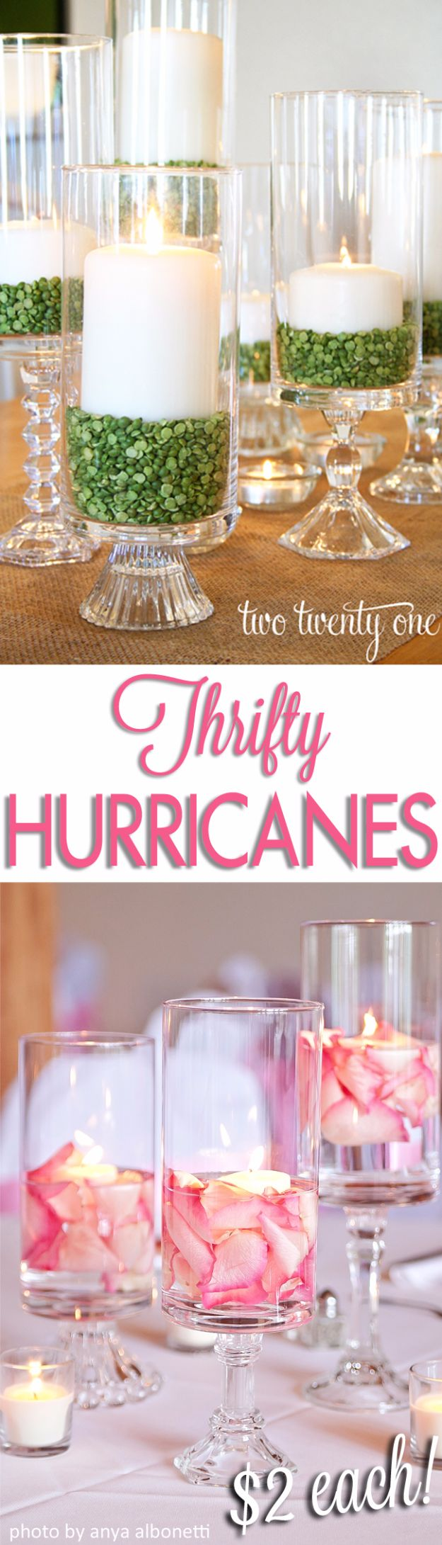 DIY Wedding Decor - Thrifty Hurricanes - Easy and Cheap Project Ideas with Things Found in Dollar Stores - Simple and Creative Backdrops for Receptions On A Budget - Rustic, Elegant, and Vintage Paper Ideas for Centerpieces, and Vases