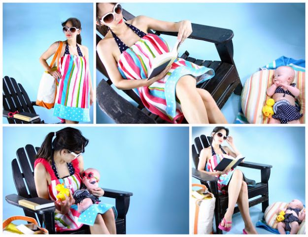 DIY Ideas With Old Towels - Towel To Poolside Robe - Cool Crafts To Make With An Old Towel - Cheap Do It Yourself Gifts and Home Decor on A Budget - Creative But Cheap Ideas for Decorating Your House and Room - Upcycle Those Towels Instead of Throwing Them Away! http://diyjoy.com/diy-ideas-old-towels