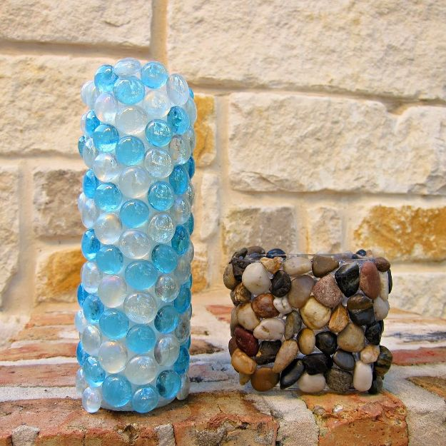 Last Minute Christmas Gifts - Unique Stone Candle Holders - Quick DIY Gift Ideas and Easy Christmas Presents To Make for Mom, Dad, Family and Friends - Dollar Store Crafts and Cheap Homemade Gifts