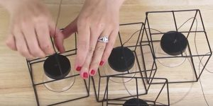 She Buys Wire Candle Holders At The Dollar Store. What She Does With Them Is Amazing!