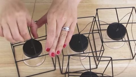 She Buys Wire Candle Holders At The Dollar Store. What She Does With Them Is Amazing! | DIY Joy Projects and Crafts Ideas