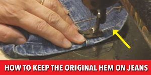 "The Easy Way To Keep The Original Hem On Your Jeans (""Magic Hem"" Tutorial)"