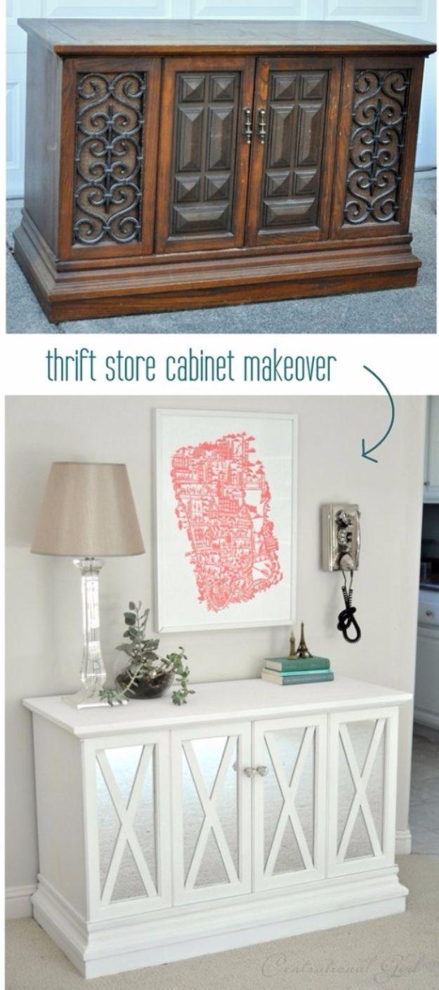 Best Furniture Hacks - $10 Cabinet Makeover - Easy DIY Furniture Makeover Ideas for Cheap Home Decor - IKEA Hack Tutorials, Dressers, Cribs, Storage, For Kids, Bedroom and Good Ideas for Bath - Anthropologie, Walmart, Kmart, Target http://diyjoy.com/best-furniture-hacks