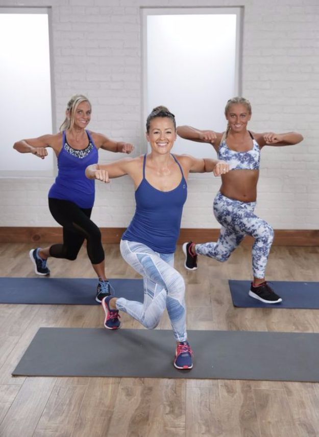 Best Exercises for 2018 - 15-Minute At-Home Cardio Workout - Easy At Home Exercises - Quick Exercise Tutorials to Try at Lunch Break - Ways To Get In Shape - Butt, Abs, Arms, Legs, Thighs, Tummy http://diyjoy.com/best-at-home-exercises-2018