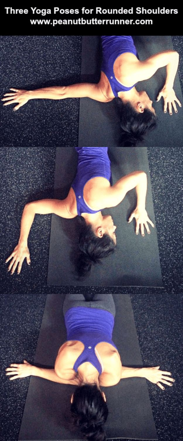 Best Exercises for 2018 - 3 Yoga Poses for Tight, Rounded Shoulders - Easy At Home Exercises - Quick Exercise Tutorials to Try at Lunch Break - Ways To Get In Shape - Butt, Abs, Arms, Legs, Thighs, Tummy http://diyjoy.com/best-at-home-exercises-2018