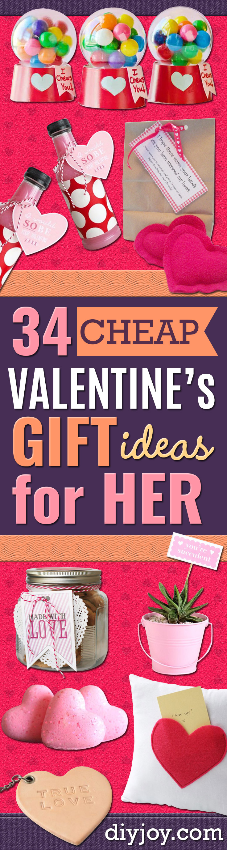 DIY Valentines Day Gifts for Her - Cool and Easy Things To Make for Your Wife, Girlfriend, Fiance - Creative and Cheap Do It Yourself Projects to Give Your Girl - Ladies Love These Ideas for Bath, Yard, Home and Kitchen, Outdoors - Make, Don't Buy Your Valentine http://diyjoy.com/diy-valentines-gifts-her