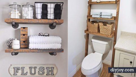 34 Bathroom Storage Ideas To Get You Organized | DIY Joy Projects and Crafts Ideas