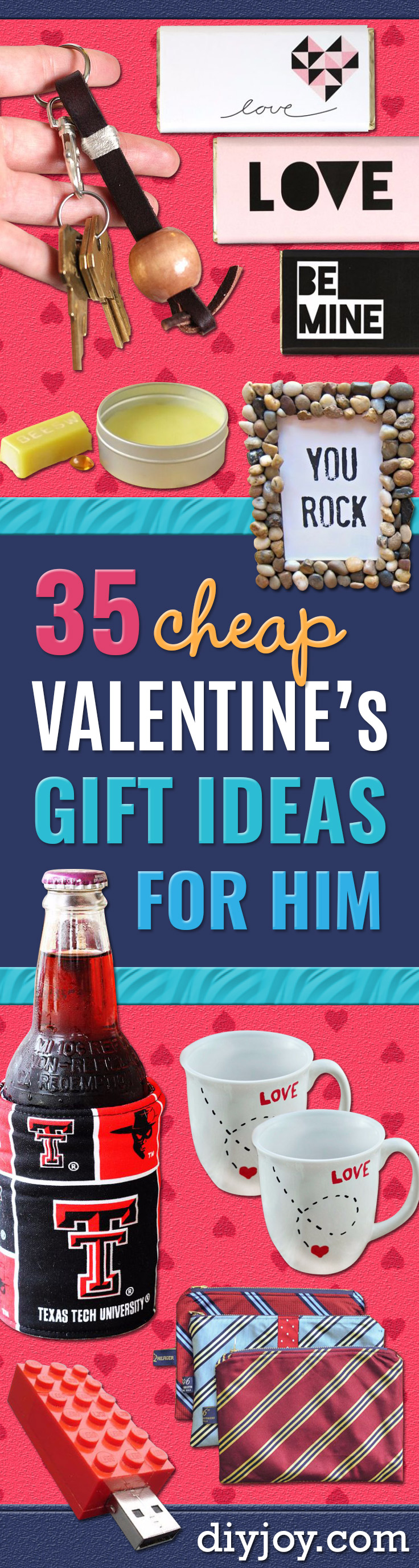 Easy DIY Valentines Day Gifts for Him - Valentine's Day Chocolate Bar Wraps - Cool and Easy Things To Make for Your Husband, Boyfriend, Fiancee - Creative and Cheap Do It Yourself Projects to Give Men, Guys