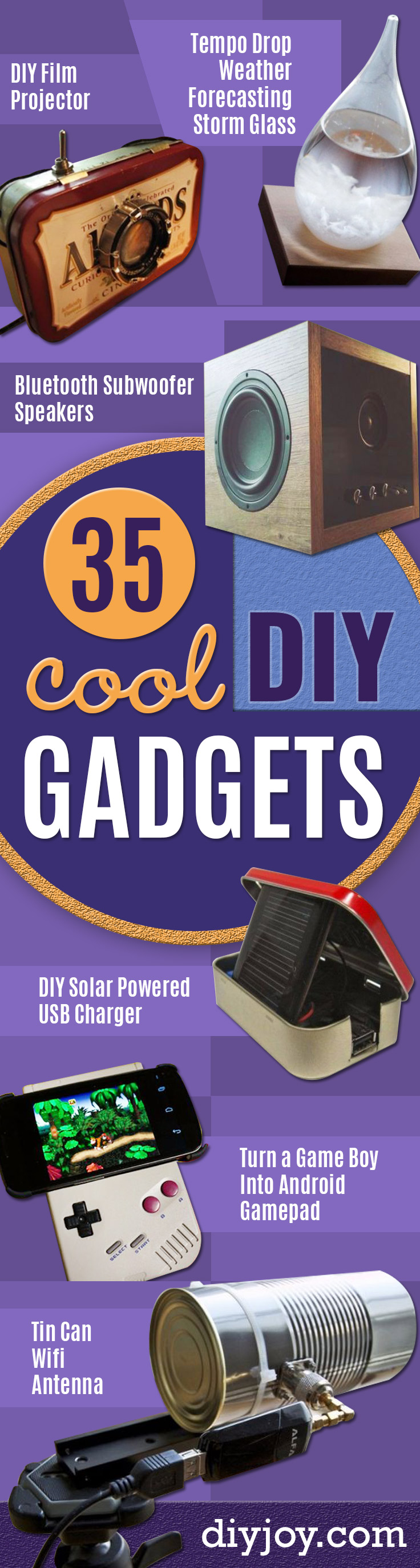DIY Gadgets - Homemade Gadget Ideas and Projects for Men, Women, Teens and Kids - Steampunk Inventions, How To Build Easy Electronics, Cool Spy Gear and Do It Yourself Tech Toys