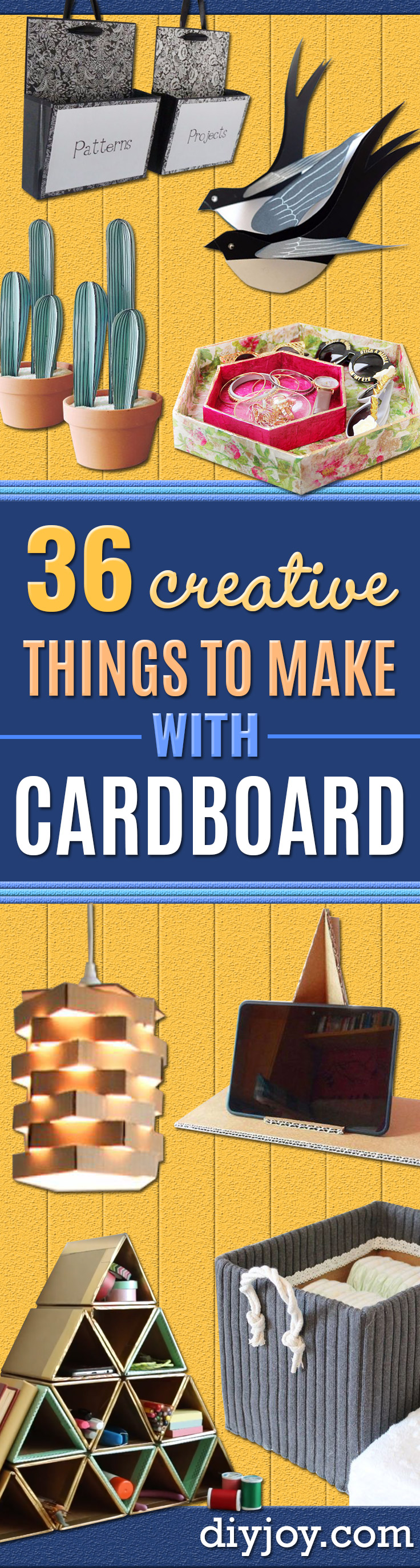 DIY Ideas With Cardboard - How To Make Room Decor Crafts for Kids - Easy and Crafty Storage Ideas For Room - Toilet Paper Roll Projects Tutorials - Fun Furniture Ideas with Cardboard - Cheap, Quick and Easy Wall Decorations http://diyjoy.com/diy-ideas-cardboard