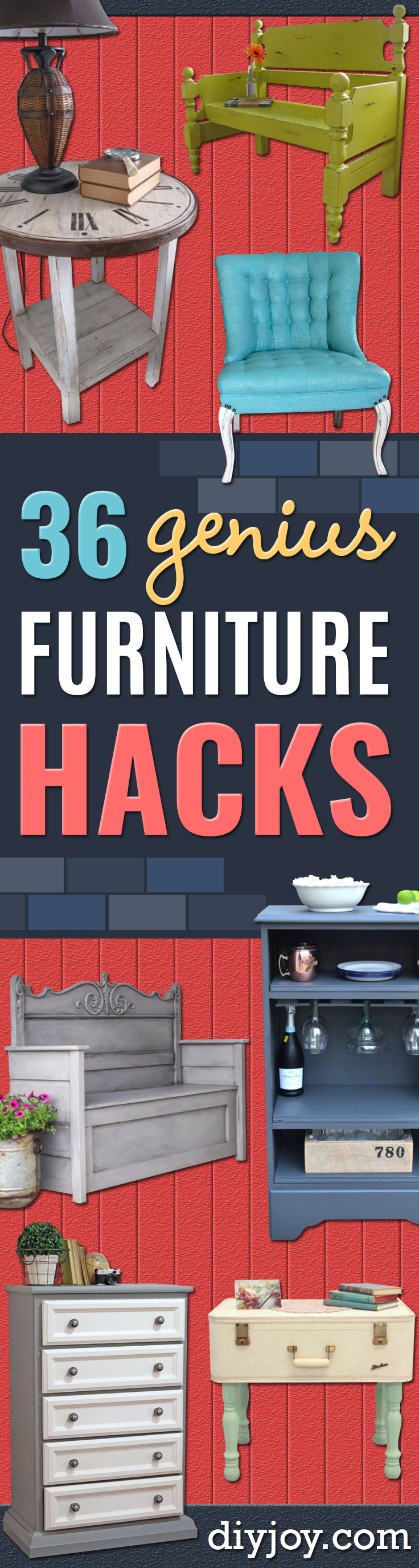 Best Furniture Hacks - Easy DIY Furniture Makeover Ideas for Cheap Home Decor - IKEA Hack Tutorials, Dressers, Cribs, Storage, For Kids, Bedroom and Good Ideas for Bath - Anthropologie, Walmart, Kmart, Target http://diyjoy.com/best-furniture-hacks