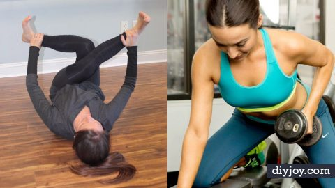 40 Exercises To Do At Home To Get In Shape | DIY Joy Projects and Crafts Ideas