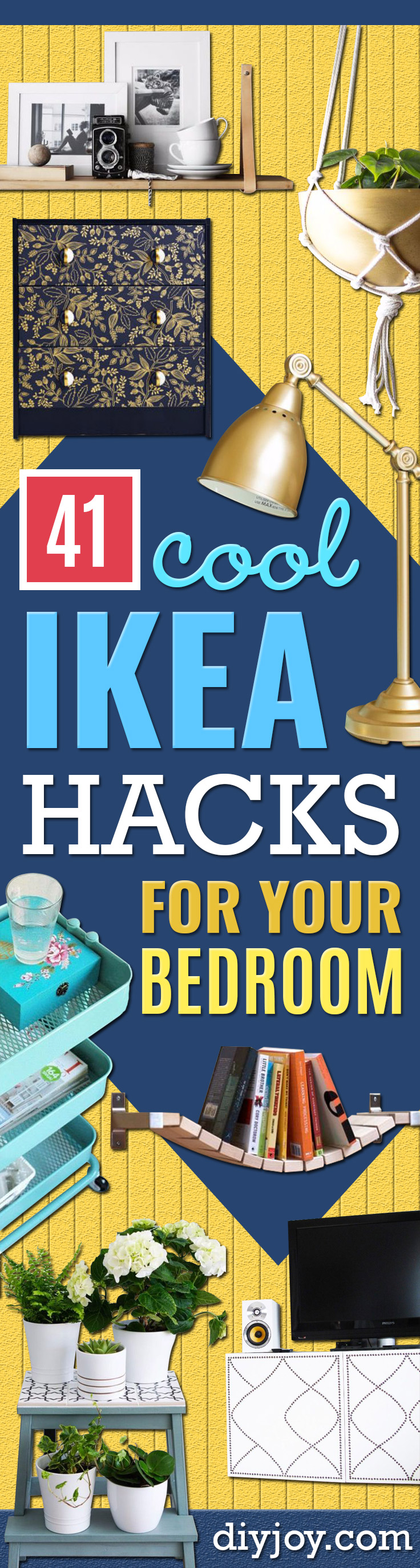 IKEA Hacks For The Bedroom - Best IKEA Furniture Hack Ideas for Bed, Storage, Nightstnad, Closet System and Storage, Dresser, Vanity, Wall Art and Kids Rooms - Easy and Cheap DIY Projects for Affordable Room and Home Decor http://diyjoy.com/ikea-hacks-bedroom
