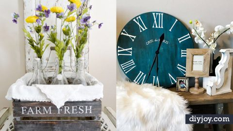 50 DIY Home Decor Crafts For Creative Decorating | DIY Joy Projects and Crafts Ideas