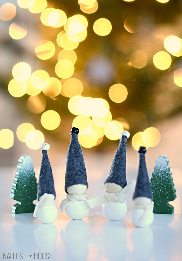 Cheap DIY Christmas Decor Ideas and Holiday Decorating On A Budget - Aarikka Inspired Jingle Bell Elves - Easy and Quick Decorating Ideas for The Holidays - Cool Dollar Store Crafts for Xmas Decorating On A Budget - wreaths, ornaments, bows, mantel decor, front door, tree and table centerpieces - best ideas for beautiful home decor during the holidays http://diyjoy.com/cheap-diy-christmas-decor