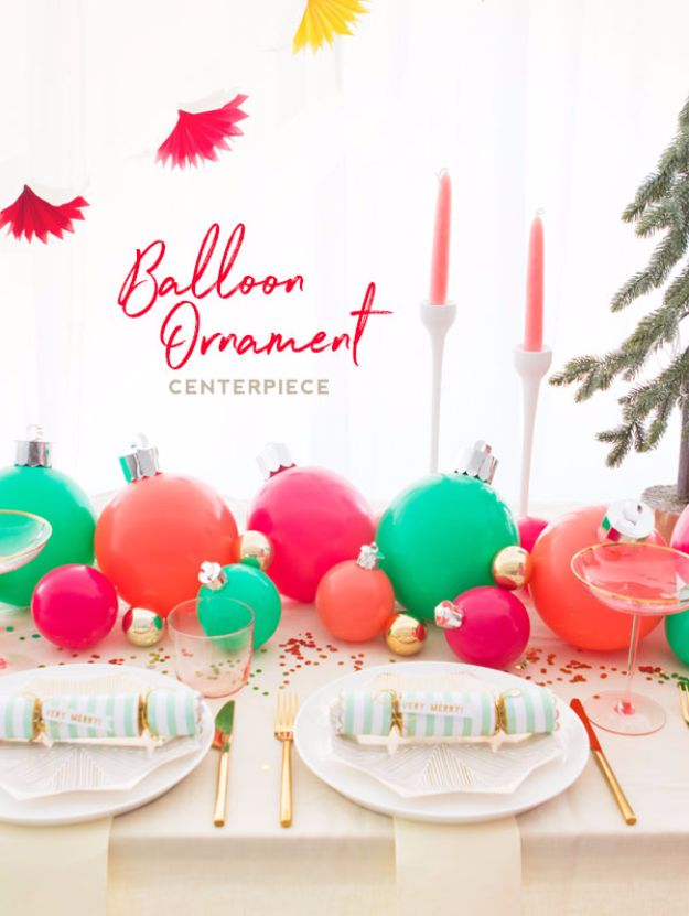 Balloon Crafts - Balloon Ornament Centerpiece - Fun Balloon Craft Ideas, Wall Art Projects and Cute Ballon Decor - DIY Balloon Ideas for Toddlers, Preschool Kids, Teens and Adults - Cheap Crafts Made With Balloons - Pumpkins, Bowls, Marshmallow Shooters, Balls, Glow Stick, Hot Air, Stress Ball http://diyjoy.com/balloon-crafts