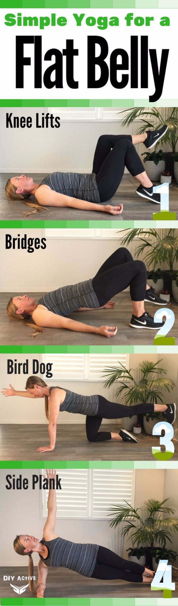 how to get flat tummy at home exercise