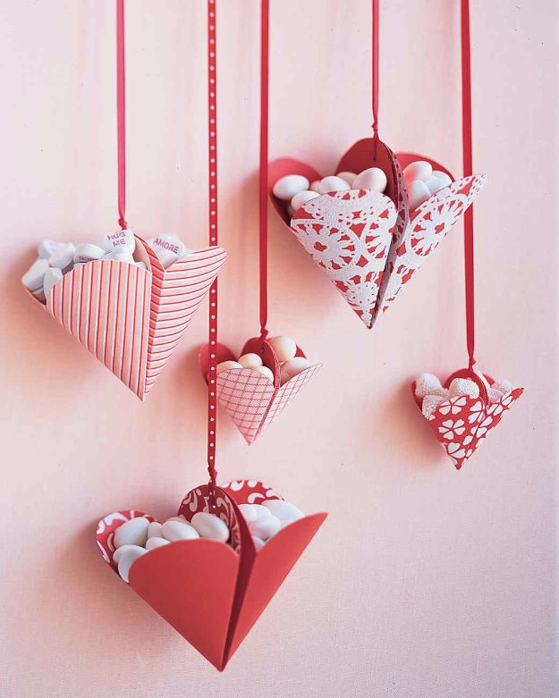 DIY Valentines Day Gifts for Her - Bonbon-Filled Hearts - Cool and Easy Things To Make for Your Wife, Girlfriend, Fiance - Creative and Cheap Do It Yourself Projects to Give Your Girl - Ladies Love These Ideas for Bath, Yard, Home and Kitchen, Outdoors - Make, Don't Buy Your Valentine
