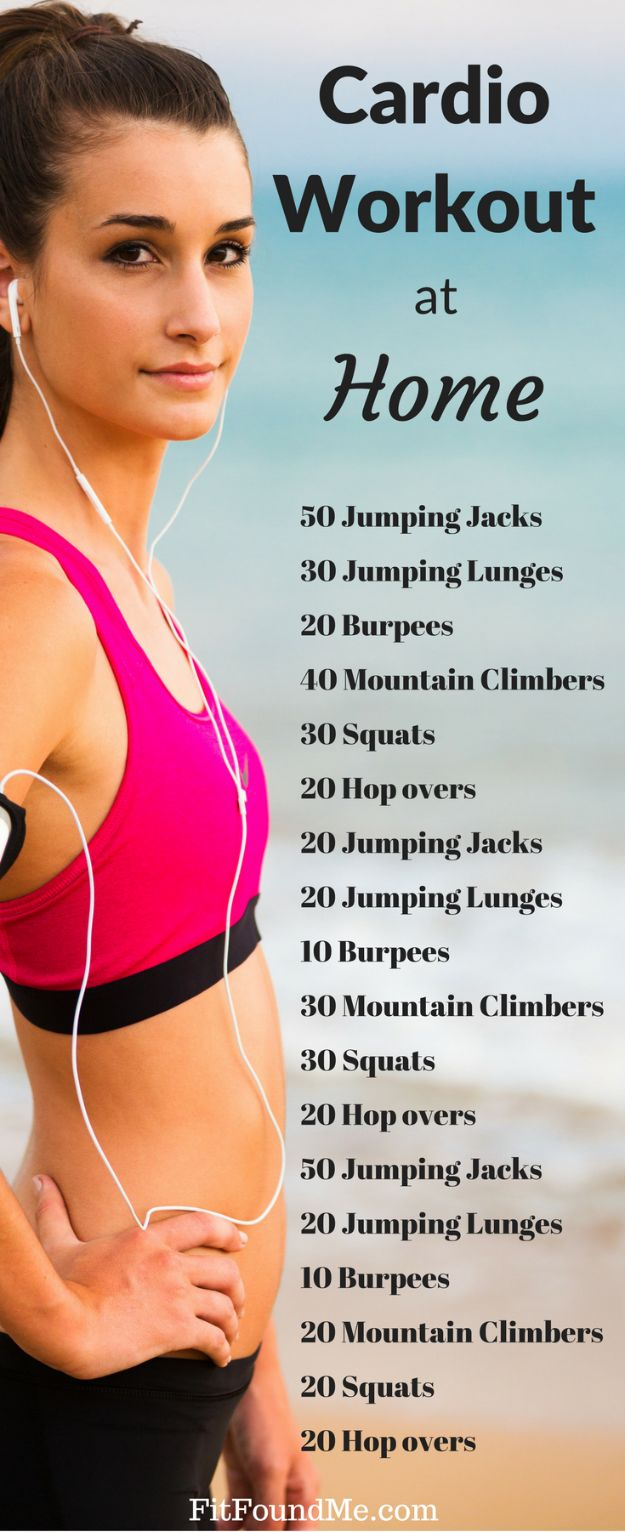 Best Exercises for 2018 - Cardio Workout for Women - Easy At Home Exercises - Quick Exercise Tutorials to Try at Lunch Break - Ways To Get In Shape - Butt, Abs, Arms, Legs, Thighs, Tummy http://diyjoy.com/best-at-home-exercises-2018