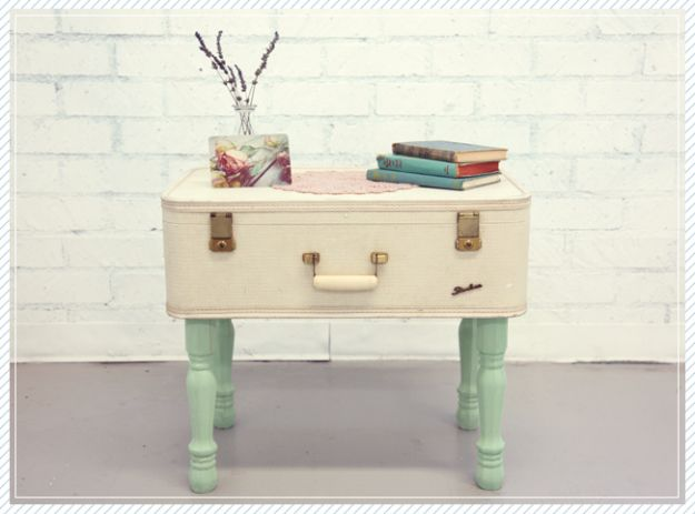 Best Furniture Hacks - Coffee Table Suitcase DIY - Easy DIY Furniture Makeover Ideas for Cheap Home Decor - IKEA Hack Tutorials, Dressers, Cribs, Storage, For Kids, Bedroom and Good Ideas for Bath - Anthropologie, Walmart, Kmart, Target http://diyjoy.com/best-furniture-hacks