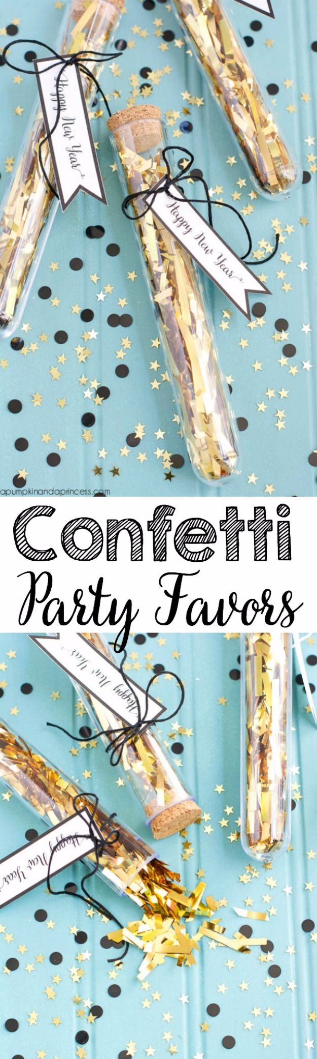 New Years Eve Decor Ideas - Confetti Party Favors - DIY New Year's Eve Decorations - Cheap Ideas for Banners, Balloons, Party Tables, Centerpieces and Festive Streamers and Lights - Cool Placecards, Photo Backdrops, Party Hats, Party Horns and Champagne Glasses - Cute Invitations, Games and Free Printables #diy #newyearseve #parties
