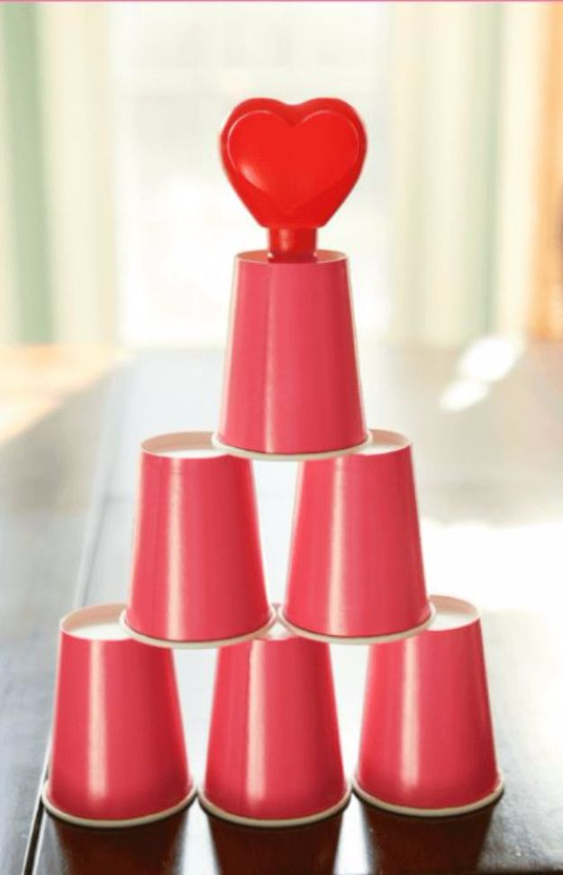 Cool Games To Make for Valentines Day - Cupid's Cups - Cheap and Easy Crafts For Valentine Parties - Ideas for Kids and Adults to Play Bingo, Matching, Free Printables and Cute Game Projects With Hearts, Red and Pink Art Ideas - Adorable Fun for The Holiday Celebrations #valentine #valentinesday