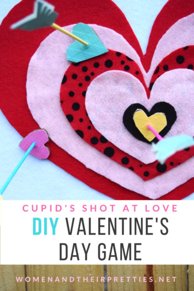 Cool Games To Make for Valentines Day - Cupid's Shot At Love - Cheap and Easy Crafts For Valentine Parties - Ideas for Kids and Adults to Play Bingo, Matching, Free Printables and Cute Game Projects With Hearts, Red and Pink Art Ideas - Adorable Fun for The Holiday Celebrations #valentine #valentinesday
