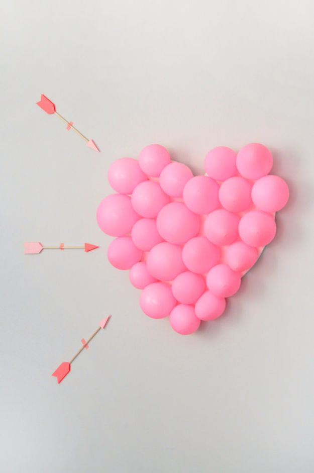Cool Games To Make for Valentines Day - DIY Balloon Pop - Cheap and Easy Crafts For Valentine Parties - Ideas for Kids and Adults to Play Bingo, Matching, Free Printables and Cute Game Projects With Hearts, Red and Pink Art Ideas - Adorable Fun for The Holiday Celebrations #valentine #valentinesday