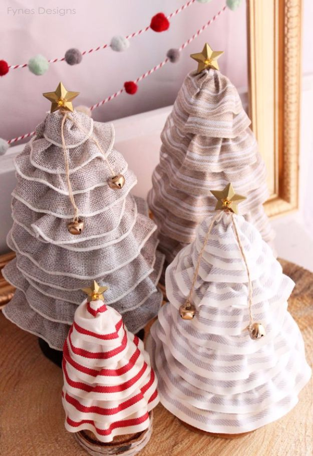 Cheap DIY Christmas Decor Ideas and Holiday Decorating On A Budget - DIY Christmas Tree Cones - Easy and Quick Decorating Ideas for The Holidays - Cool Dollar Store Crafts for Xmas Decorating On A Budget - wreaths, ornaments, bows, mantel decor, front door, tree and table centerpieces #christmas #diy #crafts