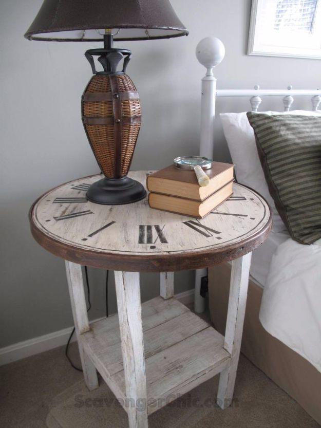 Best Furniture Hacks - DIY Clock Table - Easy DIY Furniture Makeover Ideas for Cheap Home Decor - IKEA Hack Tutorials, Dressers, Cribs, Storage, For Kids, Bedroom and Good Ideas for Bath - Anthropologie, Walmart, Kmart, Target http://diyjoy.com/best-furniture-hacks