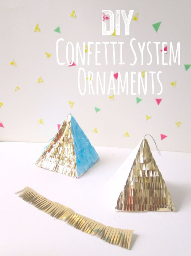 New Years Eve Decor Ideas - DIY Confetti System Ornaments - DIY New Year's Eve Decorations - Cheap Ideas for Banners, Balloons, Party Tables, Centerpieces and Festive Streamers and Lights - Cool Placecards, Photo Backdrops, Party Hats, Party Horns and Champagne Glasses - Cute Invitations, Games and Free Printables #diy #newyearseve #parties