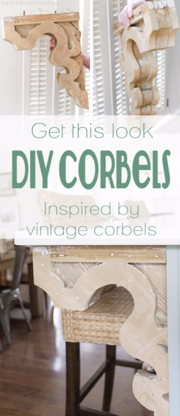 Best DIY Home Decor Crafts - DIY Corbels - Easy Craft Ideas To Make From Dollar Store Items - Cheap Wall Art, Easy Do It Yourself Gifts, Modern Wall Art On A Budget, Tabletop and Centerpiece Tutorials - Cool But Affordable Room and Home Decor With Step by Step Tutorials #diyhomedecor