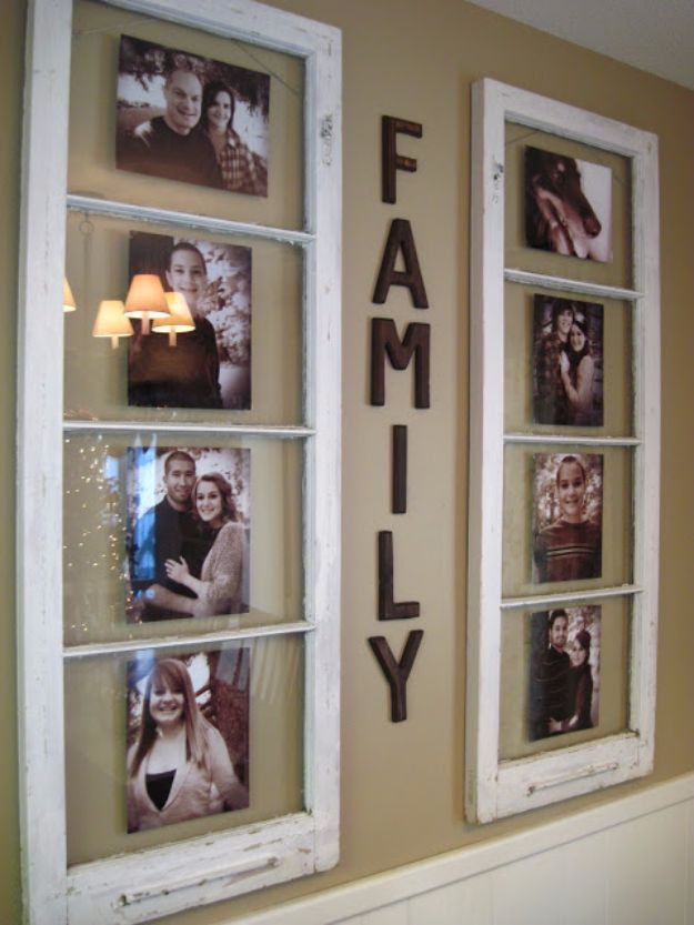 Best DIY Home Decor Crafts - DIY Family Photo Display - Easy Craft Ideas To Make From Dollar Store Items - Cheap Wall Art, Easy Do It Yourself Gifts, Modern Wall Art On A Budget, Tabletop and Centerpiece Tutorials - Cool But Affordable Room and Home Decor With Step by Step Tutorials #diyhomedecor
