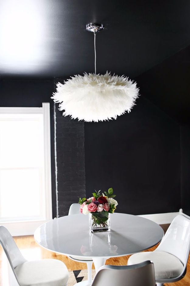 Best DIY Home Decor Crafts - DIY Feather Pendant - Easy Craft Ideas To Make From Dollar Store Items - Cheap Wall Art, Easy Do It Yourself Gifts, Modern Wall Art On A Budget, Tabletop and Centerpiece Tutorials - Cool But Affordable Room and Home Decor With Step by Step Tutorials #diyhomedecor