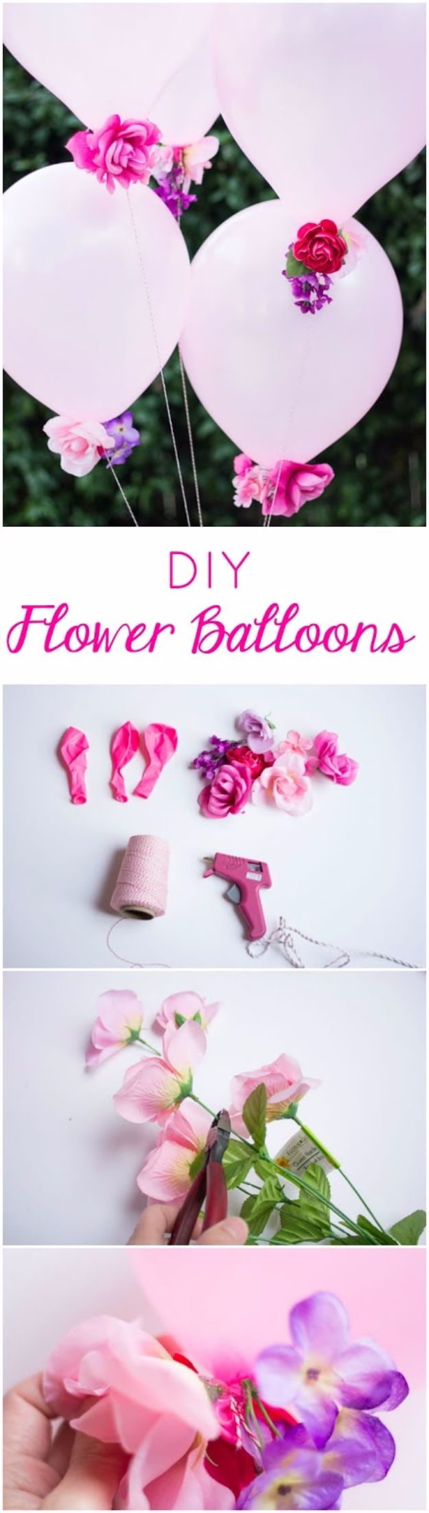 Balloon Crafts - DIY Flower Balloons - Fun Balloon Craft Ideas, Wall Art Projects and Cute Ballon Decor - DIY Balloon Ideas for Toddlers, Preschool Kids, Teens and Adults - Cheap Crafts Made With Balloons - Pumpkins, Bowls, Marshmallow Shooters, Balls, Glow Stick, Hot Air, Stress Ball http://diyjoy.com/balloon-crafts