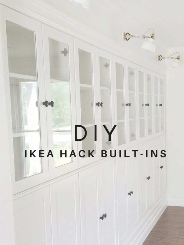 IKEA Hacks For The Bedroom - DIY IKEA Hack Built-Ins - Best IKEA Furniture Hack Ideas for Bed, Storage, Nightstand, Closet System and Storage, Dresser, Vanity, Wall Art and Kids Rooms - Easy and Cheap DIY Projects for Affordable Room and Home Decor #ikeahacks #diydecor #bedroomdecor