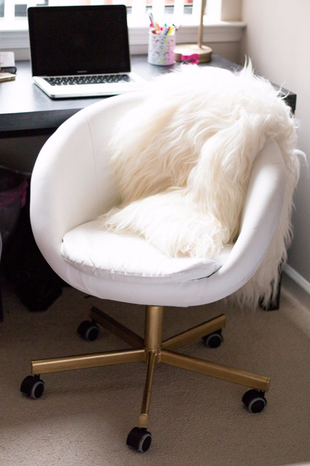 IKEA Hacks For The Bedroom - DIY IKEA Hack Gold Chair - Best IKEA Furniture Hack Ideas for Bed, Storage, Nightstand, Closet System and Storage, Dresser, Vanity, Wall Art and Kids Rooms - Easy and Cheap DIY Projects for Affordable Room and Home Decor #ikeahacks #diydecor #bedroomdecor