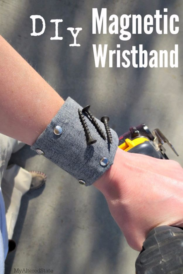 DIY Valentines Day Gifts for Him - DIY Magnetic Wristband - Cool and Easy Things To Make for Your Husband, Boyfriend, Fiance - Creative and Cheap Do It Yourself Projects to Give Your Man - Ideas Guys Love These Ideas for Car, Yard, Home and Garage - Make, Don't Buy Your Valentine http://diyjoy.com/diy-valentines-gifts-him