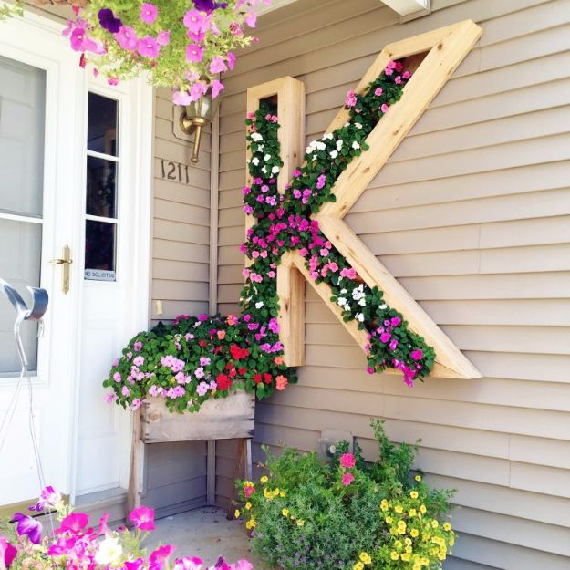 Best DIY Home Decor Crafts - DIY Monogram Planter - Easy Craft Ideas To Make From Dollar Store Items - Cheap Wall Art, Easy Do It Yourself Gifts, Modern Wall Art On A Budget, Tabletop and Centerpiece Tutorials - Cool But Affordable Room and Home Decor With Step by Step Tutorials #diyhomedecor