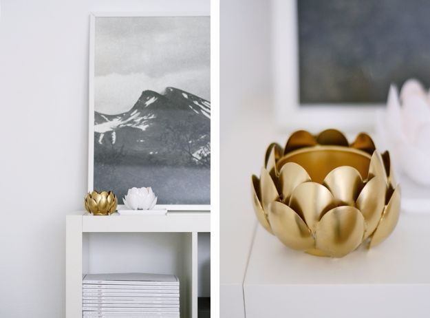 Best DIY Home Decor Crafts - DIY Plastic Spoon Water Lilies - Easy Craft Ideas To Make From Dollar Store Items - Cheap Wall Art, Easy Do It Yourself Gifts, Modern Wall Art On A Budget, Tabletop and Centerpiece Tutorials - Cool But Affordable Room and Home Decor With Step by Step Tutorials #diyhomedecor