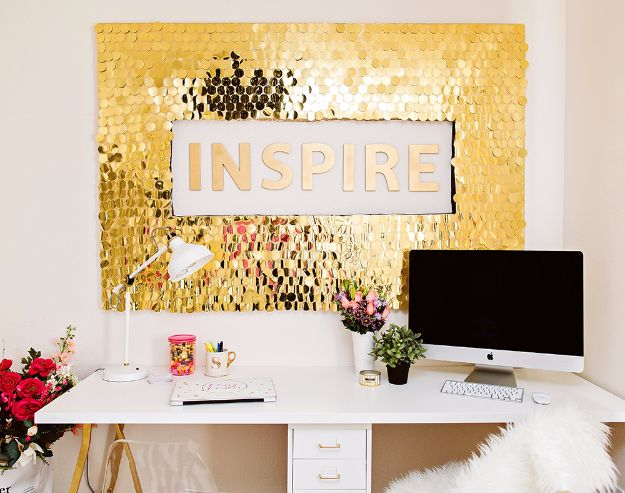 Best DIY Home Decor Crafts - DIY Sequins Wall Art - Easy Craft Ideas To Make From Dollar Store Items - Cheap Wall Art, Easy Do It Yourself Gifts, Modern Wall Art On A Budget, Tabletop and Centerpiece Tutorials - Cool But Affordable Room and Home Decor With Step by Step Tutorials #diyhomedecor