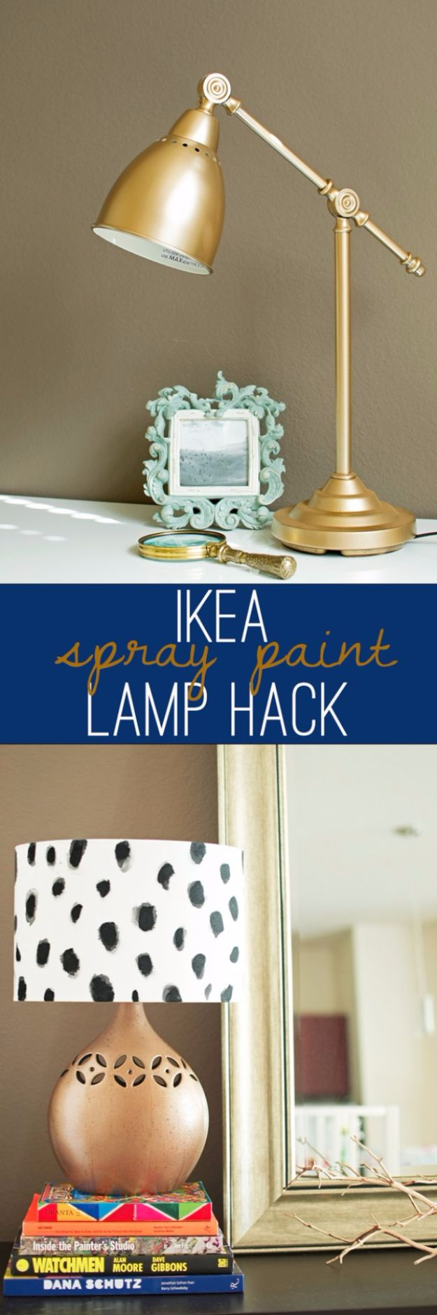 IKEA Hacks For The Bedroom - DIY Spotted Copper Lamp - Best IKEA Furniture Hack Ideas for Bed, Storage, Nightstand, Closet System and Storage, Dresser, Vanity, Wall Art and Kids Rooms - Easy and Cheap DIY Projects for Affordable Room and Home Decor #ikeahacks #diydecor #bedroomdecor