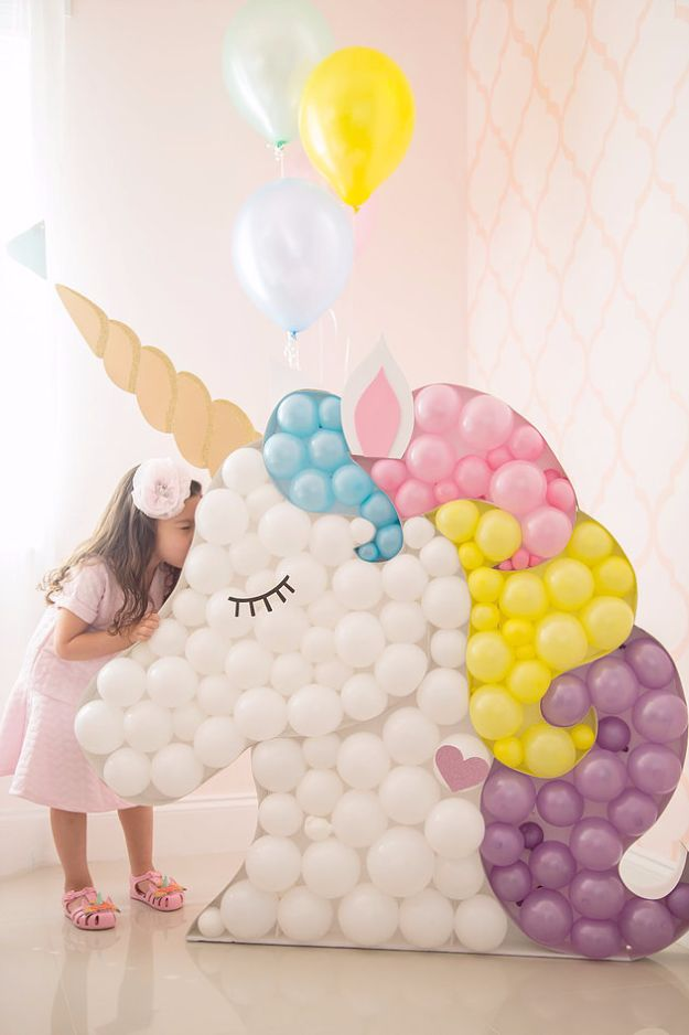 Balloon Crafts - DIY Unicorn Balloon - Fun Balloon Craft Ideas, Wall Art Projects and Cute Ballon Decor - DIY Balloon Ideas for Toddlers, Preschool Kids, Teens and Adults - Cheap Crafts Made With Balloons - Pumpkins, Bowls, Marshmallow Shooters, Balls, Glow Stick, Hot Air, Stress Ball http://diyjoy.com/balloon-crafts