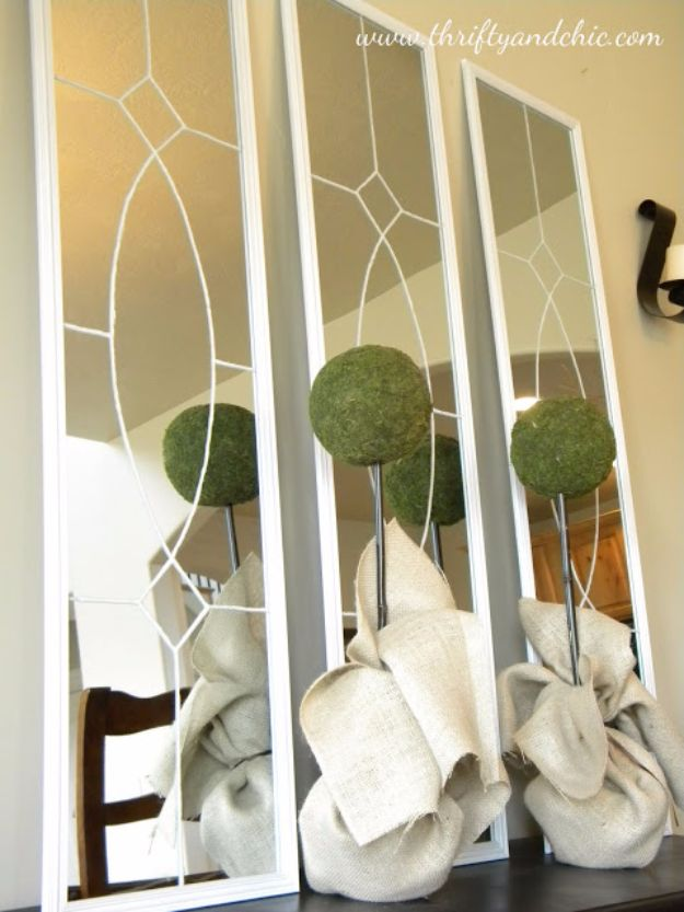 Best DIY Home Decor Crafts - Decorative Mirrors - Easy Craft Ideas To Make From Dollar Store Items - Cheap Wall Art, Easy Do It Yourself Gifts, Modern Wall Art On A Budget, Tabletop and Centerpiece Tutorials - Cool But Affordable Room and Home Decor With Step by Step Tutorials #diyhomedecor