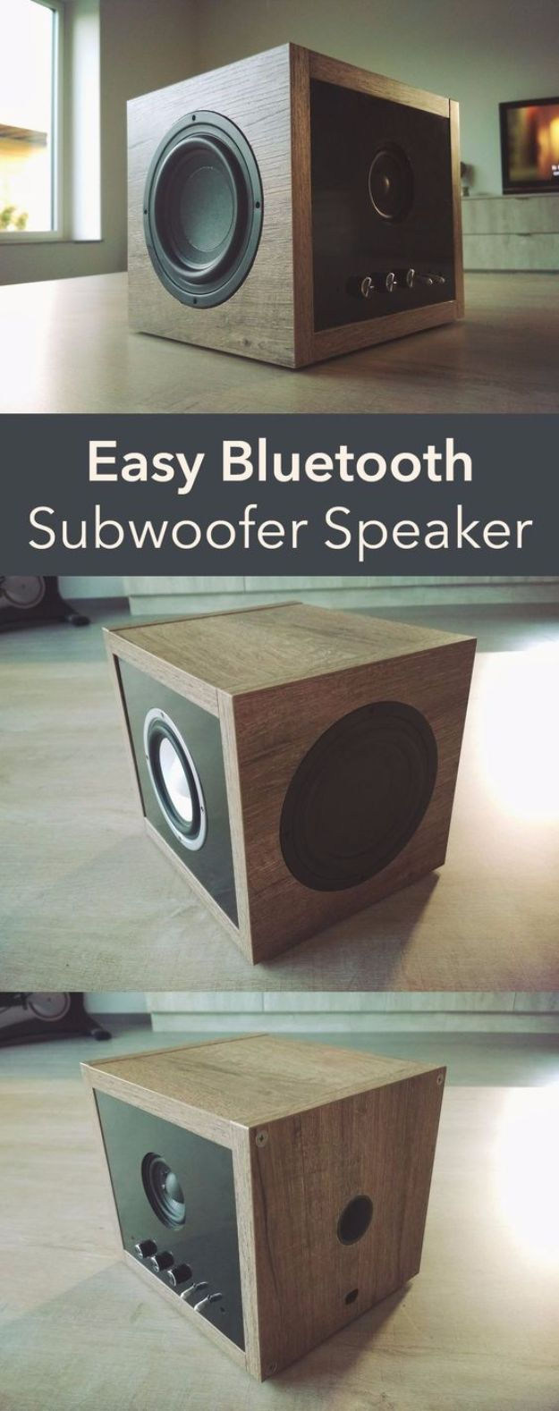 DIY Gadgets - Easy Bluetooth Subwoofer Speaker - Homemade Gadget Ideas and Projects for Men, Women, Teens and Kids - Steampunk Inventions, How To Build Easy Electronics, Cool Spy Gear and Do It Yourself Tech Toys http://diyjoy.com/diy-gadgets