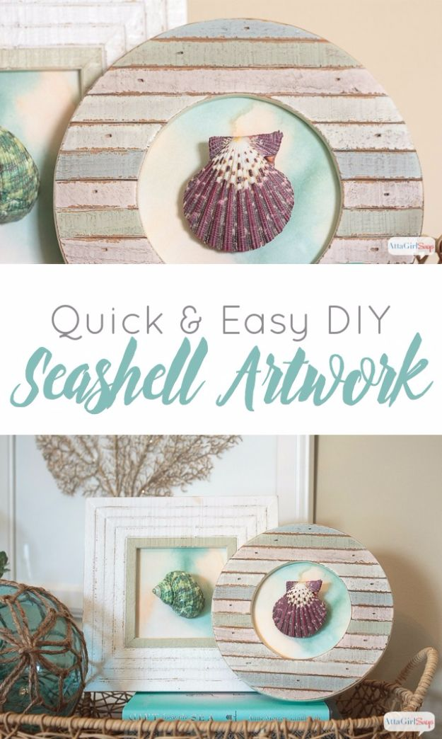 DIY Ideas With Sea Shells - Easy DIY Seashell Artwork - Best Cute Sea Shell Crafts for Adults and Kids - Easy Beach House Decor Ideas With Sand and Large Shell Art - Wall Decor and Home, Bedroom and Bath - Cheap DIY Projects Make Awesome Homemade Gifts http://diyjoy.com/diy-ideas-sea-shells