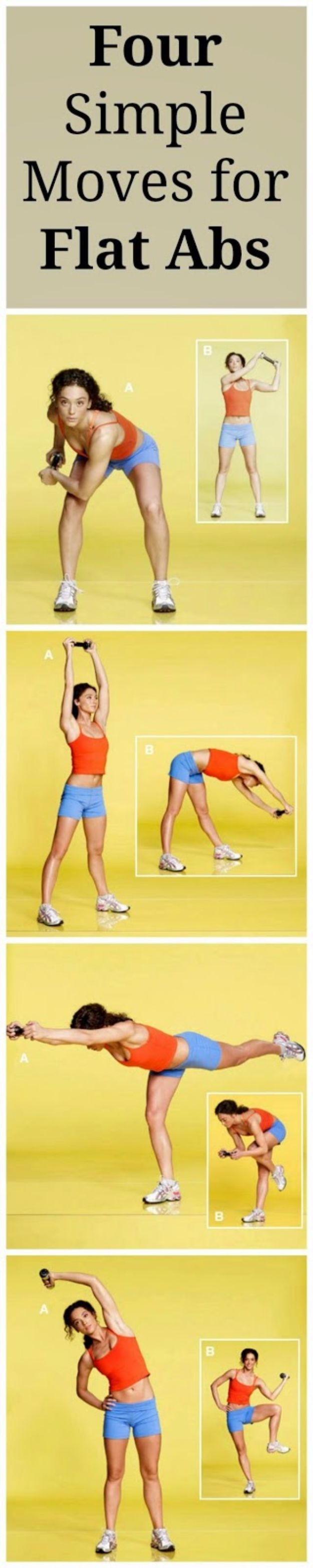 Best Exercises for 2018 - Four Simple Moves For Flat Abs - Easy At Home Exercises - Quick Exercise Tutorials to Try at Lunch Break - Ways To Get In Shape - Butt, Abs, Arms, Legs, Thighs, Tummy http://diyjoy.com/best-at-home-exercises-2018